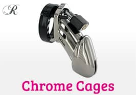 Chrome Chastity Cages