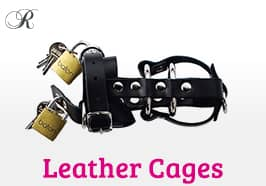 Leather Chastity Cages