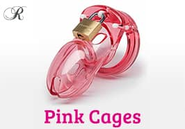 Pink Chastity Cages