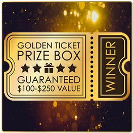 Golden Ticket Prize Box