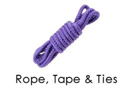 Ropes, Tape, and Ties Bondage Sub Category Page